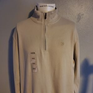 Izod Tan 1/4 Zip Hoodie Excellent Condition